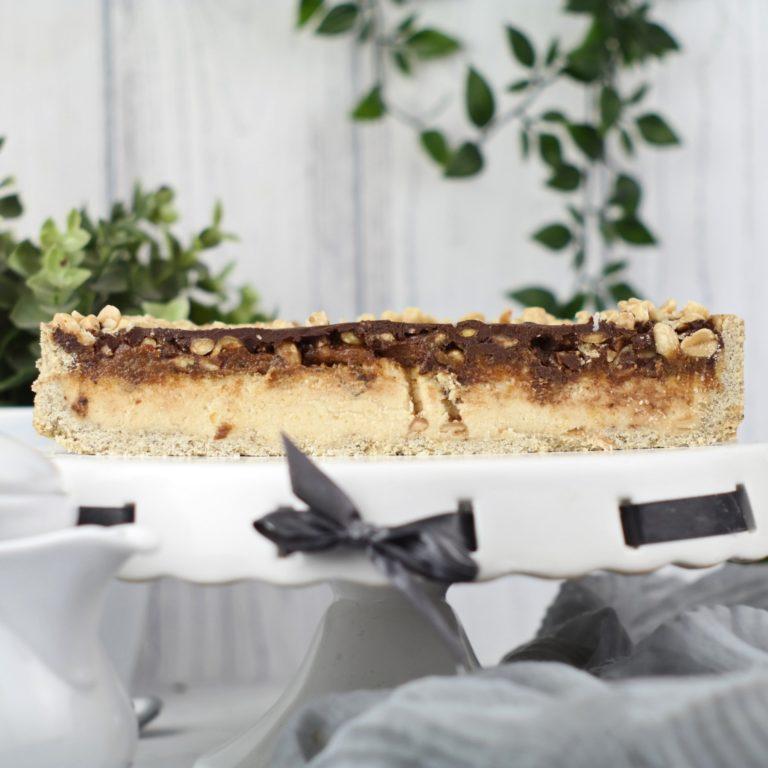 (tarta snickers 1) - zdjęcie przekroju