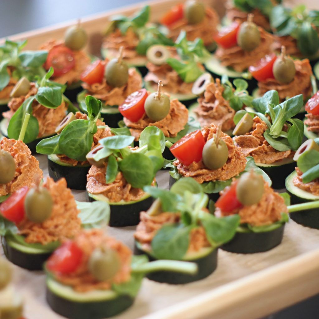 Krążki cukiniowe z suszonym pomidorem